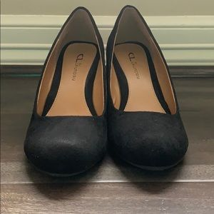 Black Suede CL by Laundry Wedges 8.5